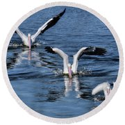 3 Is Company Round Beach Towel