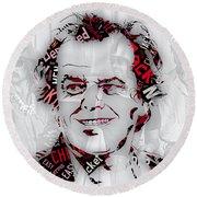 Jack Nicholson Movie Titles Round Beach Towel