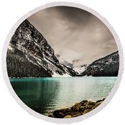Round Beach Towel featuring the photograph Lake Louise by Bill Howard