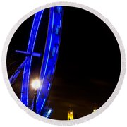 London Eye Night View Round Beach Towel