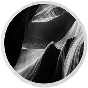 Lower Antelope Canyon Round Beach Towel