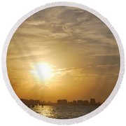 Loyda's Point Of View Round Beach Towel by Reina Resto