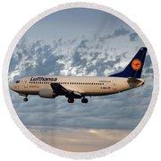 Lufthansa Boeing 737-300 Round Beach Towel