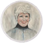 Margaret G Pope Round Beach Towel