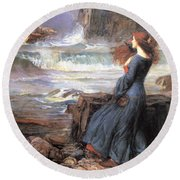 Miranda - The Tempest Round Beach Towel