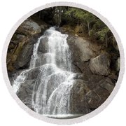 Moss Glen Falls Round Beach Towel by Catherine Gagne