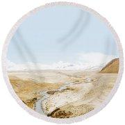 Round Beach Towel featuring the photograph Mount Everest by Setsiri Silapasuwanchai
