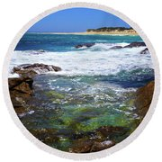 Mouth Of Margaret River Beach II Round Beach Towel by Cassandra Buckley