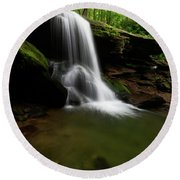 Otter Falls - Seven Devils, North Carolina Round Beach Towel