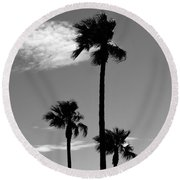 3 Palms Round Beach Towel by Janice Westerberg
