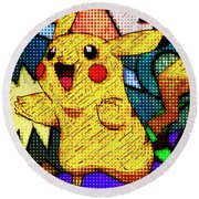 Pokemon - Pikachu Round Beach Towel by Kyle West