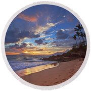 Poolenalena Sunset Round Beach Towel