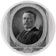 President Theodore Roosevelt Round Beach Towel