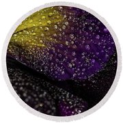 Purple And Yellow Round Beach Towel