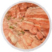 Round Beach Towel featuring the photograph Sandstone Wall In Valley Of Fire by Ray Mathis