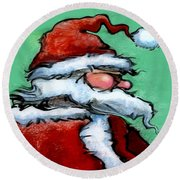 Santa Claus Round Beach Towel by Kevin Middleton