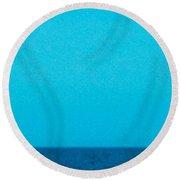Blue Sea Round Beach Towel