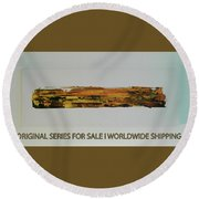 Series Abstract Worlds Only Originals For Sale Worldwide Shipping Round Beach Towel