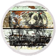 Simmental Bull Round Beach Towel