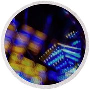 Singapore Night Urban City Light - Series - Your Singapore Round Beach Towel