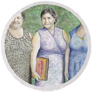 3 Sisters Round Beach Towel