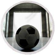 Soccer Ball Sports Stadium Tunnel Round Beach Towel
