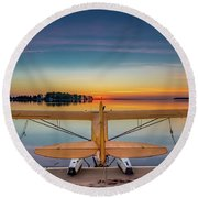 Splash-in Sunrise  Round Beach Towel