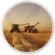 Spring Wheat Harvest, Tiger Hills Round Beach Towel