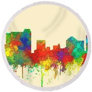 St Petersburg Florida Skyline Round Beach Towel