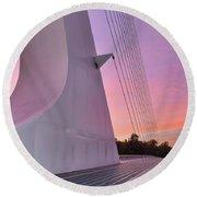 Sundial Bridge Round Beach Towel