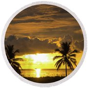 Sunrise Miami Beach Round Beach Towel