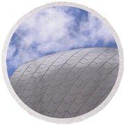 Sydney Opera House Roof Detail Round Beach Towel