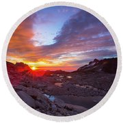 The Enchantments Round Beach Towel by Evgeny Vasenev