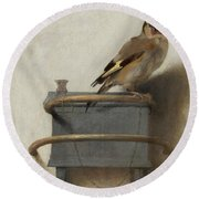 The Goldfinch Round Beach Towel
