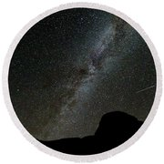 The Milky Way Round Beach Towel