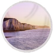 Round Beach Towel featuring the photograph The Seven Sisters by Will Gudgeon