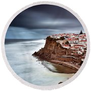 Round Beach Towel featuring the photograph Upcoming Storm by Jorge Maia