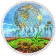 The Unisphere Round Beach Towel
