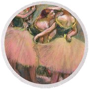 Three Dancers Round Beach Towel
