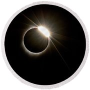 Total Solar Eclipse Round Beach Towel