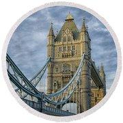 Tower Bridge London Round Beach Towel by Patricia Hofmeester