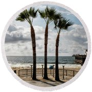 3 Trees Round Beach Towel