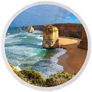 Twelve Apostles Great Ocean Road Round Beach Towel