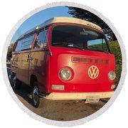 Volkswagen Bus T2 Westfalia Round Beach Towel