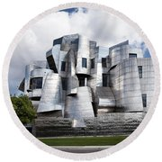 Weisman Art Museum Round Beach Towel by Steve Lucas