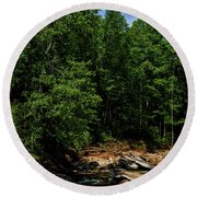Round Beach Towel featuring the photograph Williams River After The Flood by Thomas R Fletcher