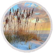 Round Beach Towel featuring the photograph 30 A In South Walton by JC Findley