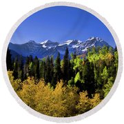 Autumn Splender Round Beach Towel