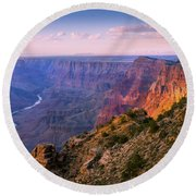 Canyon Glow Round Beach Towel