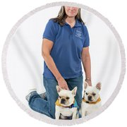3010.060 Therapet Round Beach Towel by M K  Miller